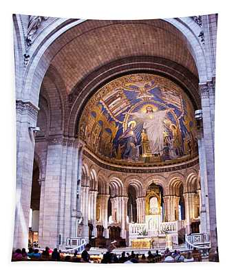 Interior Sacre Coeur Basilica Paris France Tapestry