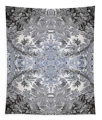 Intricate Frost Pattern Tapestry