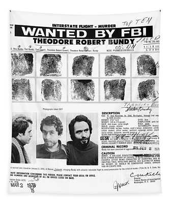 Investigator's Copy - Ted Bundy Wanted Document  1978 Tapestry