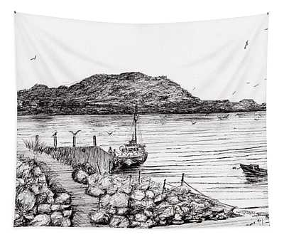 Iona From Mull Tapestry