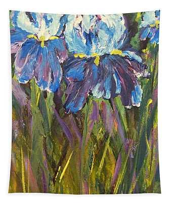 Iris Floral Garden Tapestry