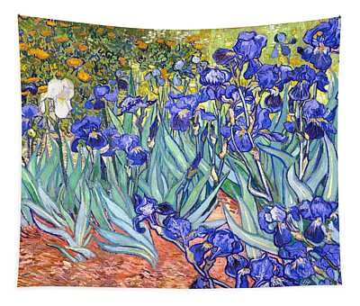 Tapestry featuring the painting Irises by Van Gogh