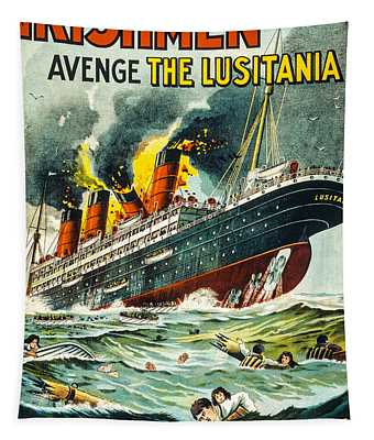 Irishman Avenge The Lusitiania Tapestry