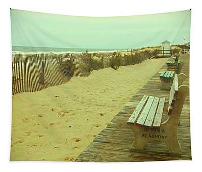 Is This A Beach Day - Jersey Shore Tapestry