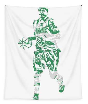 Isaiah Thomas Boston Celtics Pixel Art 17 Tapestry