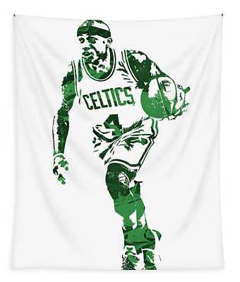 Isaiah Thomas Boston Celtics Pixel Art 4 Tapestry