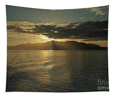 Isle Of Arran At Sunset Tapestry