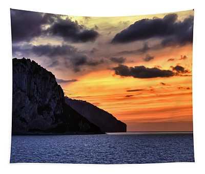 Isle Of Capri Sunset Tapestry