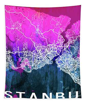 Istanbul Watercolor Tapestry