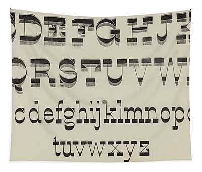 Italian, Large And Small Classic Font Tapestry