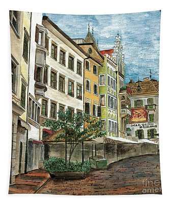 Italian Village 1 Tapestry