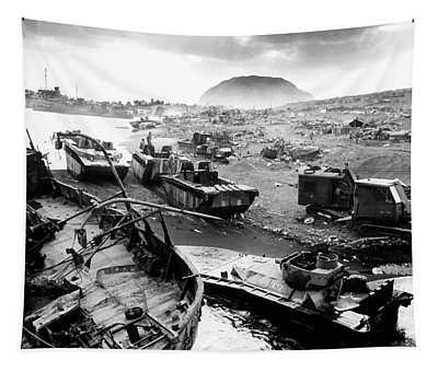 Iwo Jima Beach Tapestry