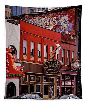 Jack's Bar-b-que And The Stage On Broadway Tapestry