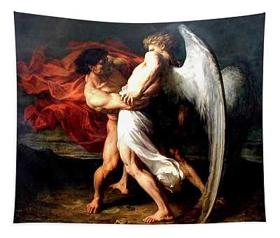 Jacob Wrestling With The Angel Tapestry