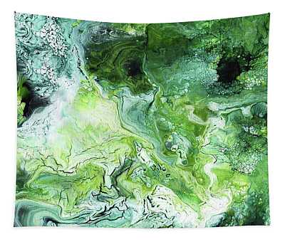 Jade- Abstract Art By Linda Woods Tapestry
