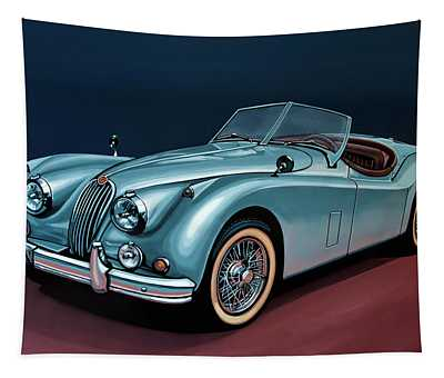 Jaguar Xk140 1954 Painting Tapestry