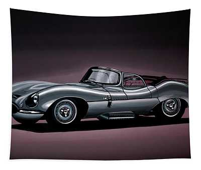 Jaguar Xkss 1957 Painting Tapestry