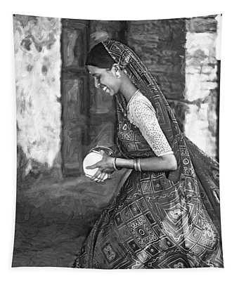 Jaisalmer Beauty 2 - Paint Bw Tapestry
