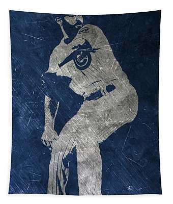 Jake Arrieta Chicago Cubs Art Tapestry