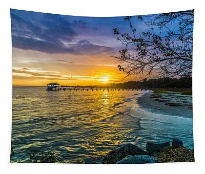 James Island Sunrise - Melton Peter Demetre Park Tapestry