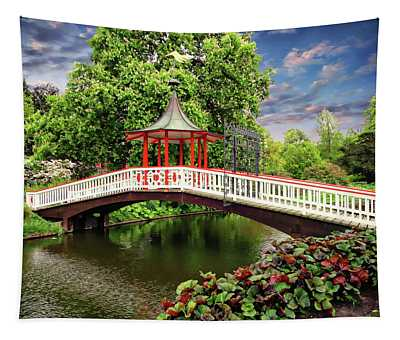 Japanese Bridge Garden Tapestry