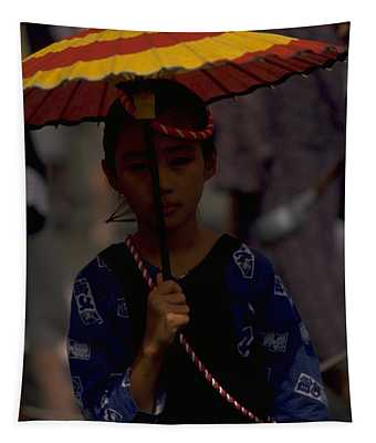 Tapestry featuring the photograph Japanese Girl by Travel Pics