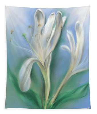 Japanese Honeysuckle Flowers Tapestry
