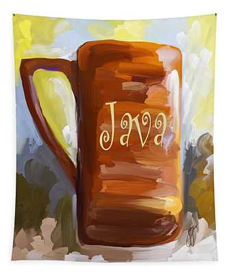 Java Coffee Cup Tapestry