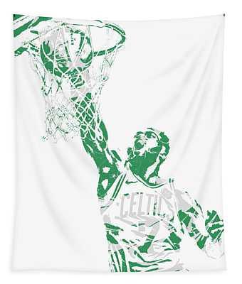 Jaylen Brown Boston Celtics Pixel Art 12 Tapestry