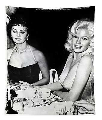 Jayne Mansfield Hollywood  Actress Sophia Loren 1957 Tapestry