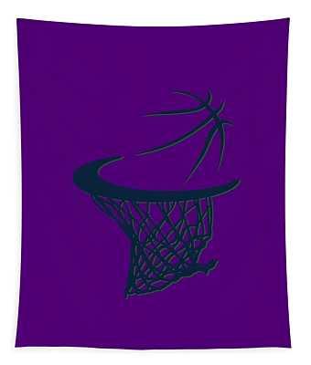 Jazz Basketball Hoop Tapestry