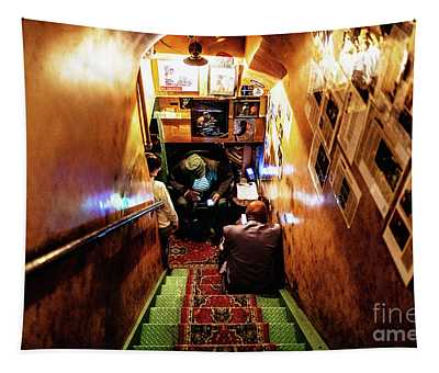 Tapestry featuring the photograph Jazz Club by Miles Whittingham