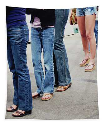 Jeans And Sandals- Photography By Linda Woods Tapestry