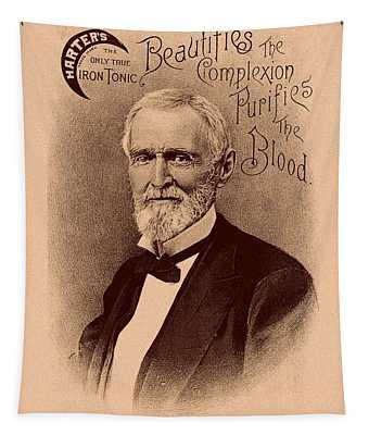 Jefferson Davis Vintage Advertisement Tapestry