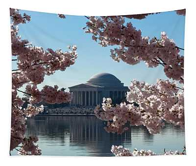 Jefferson Memorial At Cherry Blossom Time On The Tidal Basin Ds008 Tapestry