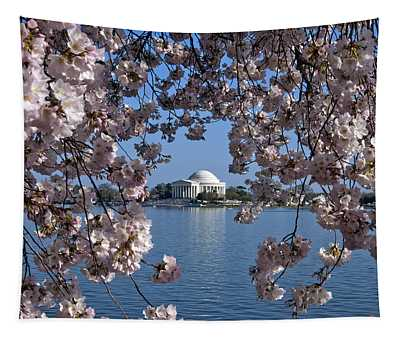Jefferson Memorial On The Tidal Basin Ds051 Tapestry