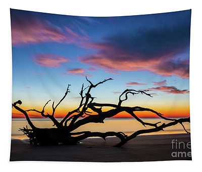 Jekyll Island Sunrise On Driftwood Beach Tapestry