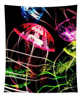Jelly Fish Trails Tapestry
