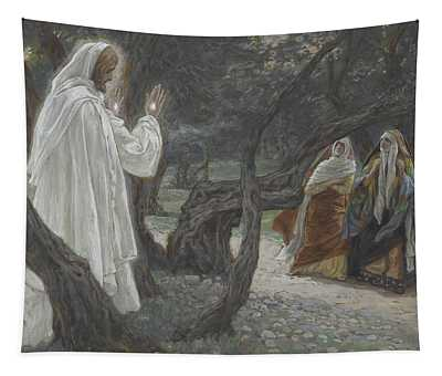 Jesus Appears To The Holy Women Tapestry