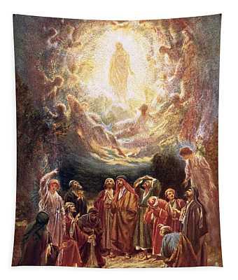 Jesus Ascending Into Heaven Tapestry