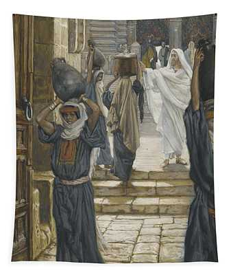 Jesus Forbids The Carrying Of Loads In The Forecourt Of The Temple Tapestry