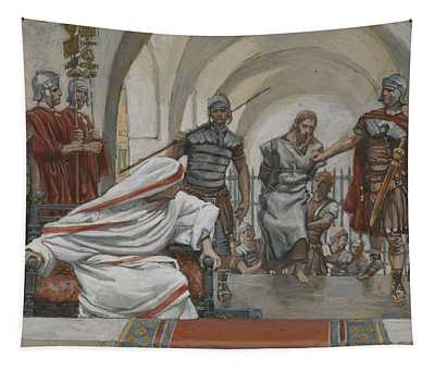 Jesus Led From Herod To Pilate Tapestry