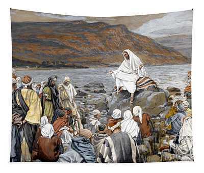 Jesus Preaching Tapestry
