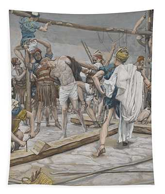 Jesus Stripped Of His Clothing Tapestry