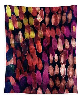 Jewel Drops- Abstract Art By Linda Woods Tapestry