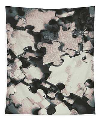 Jigsaws Of Double Exposure Tapestry