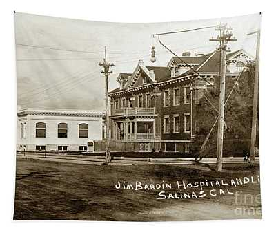 Jim Bardin Hospital The Hospital Was Located On The E Side Of Main Street  Circa 1910 Tapestry