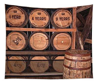 Jim Beam Bourbon Barrels Tapestry