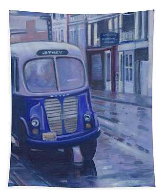 Jitney Ride In The Rain Tapestry
