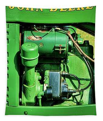 John Deere Tractor Engine Detail Tapestry